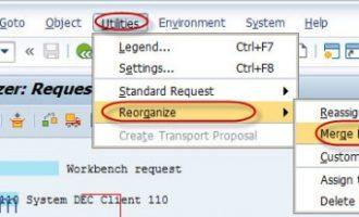 如何合并传输请求(transport request)