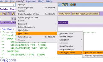 SAP Webservice实例教程