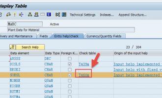 SALV通过参照数据库表字段实现单元格输入帮助F4