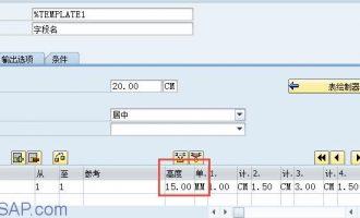 Smartform中表(table)的行间距设置