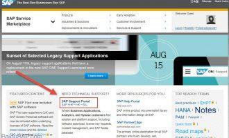 如何查找SAP notes