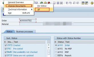 如何读取生产订单状态(PP order status)(STATUS_READ)
