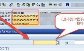 ALV过滤器(filter)中的字段长度不匹配