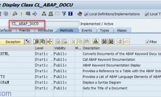 显示ABAP F1帮助class[CL_ABAP_DOCU]