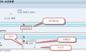 取得用户参数文件(CLSE_SELECT_USR01)