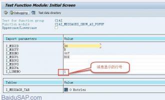 SAP系统显示多条message函数(C14Z_MESSAGES_SHOW_AS_POPUP)