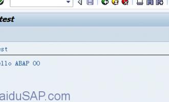 ABAP面向对象(Object Orientation)编程1-简单的OO程序