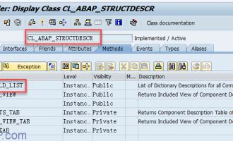 [代码]如何取得表/结构的列名字(cl_abap_structdescr)
