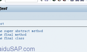 ABAP面向对象(Object Orientation)编程6-抽象方法和最终方法