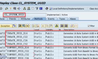 如何创建,转换UUID[CL_SYSTEM_UUID]