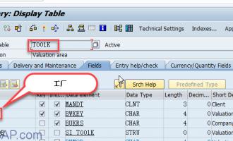 如何根据工厂找到公司代码[T001k]
