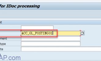 使用IDOC创建会计凭证[ACC_GL_POSTING01]