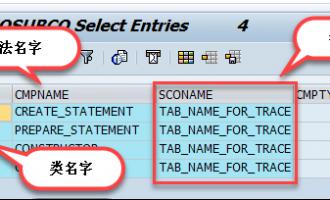 如何通过输入输出参数查找类方法[表SEOSUBCO]
