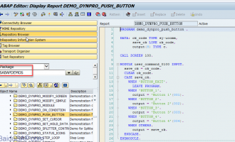 介绍一个ABAP demo包(package)[SABAPDEMOS]