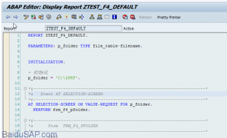 ABAP代码编辑器(ABAP Editor)中快捷键小结