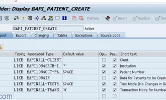 调用BAPI创建病患主数据时的问题汇总[BAPI_PATIENT_CREATE]