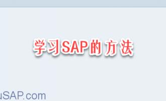 学习SAP的方法