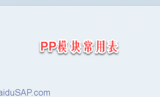 PP模块常用表