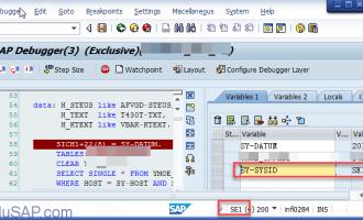 SAP系统名字保存在系统表量SY-SYSID中