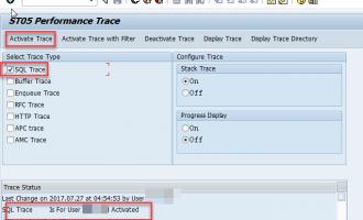 如何使用ST05查看ABAP SQL语句使用的secondry index