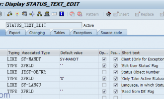 读取销售订单用户状态(user status)/系统状态(system status)-STATUS_TEXT_EDIT