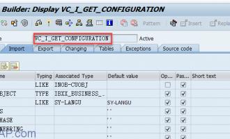 如何读取销售订单行项目特性值-VC_I_GET_CONFIGURATION