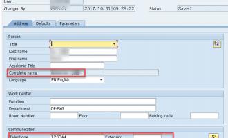 [代码]如何根据SAP登录用户名取得电话号码,电子邮件地址和全名