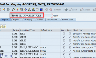 如何debug smarforms的地址节点(address node)-[ADDRESS_INTO_PRINTFORM]