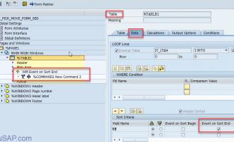 如何在smartform中的table节点插入分页