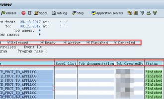 SAP后台Job数据保存在表TBTCP/TBTCO中