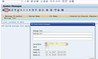 如何在SAP系统中发布用户通知-SM02