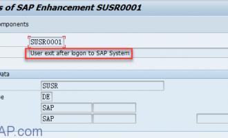 SAP用户登录增强SUSR0001