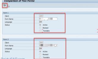 如何比较SAP Script-RSTXFCOM