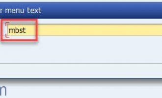 SAP常用Tcode汇总