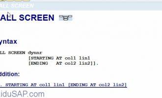 使用Call screen弹出窗口时,如何设置窗口屏幕的坐标