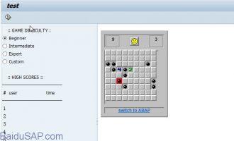 [代码]用ABAP语言写的扫雷游戏