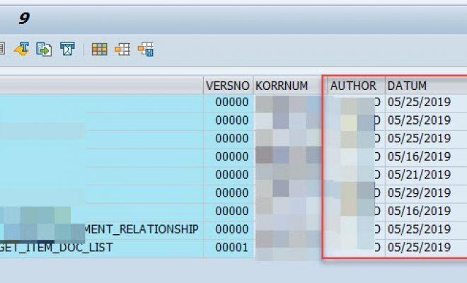 传输请求TR的版本管理信息保存在表VRSD和REPOSRC中