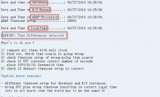 查看SAP服务期时间与本地时间差异-RSDBTIME
