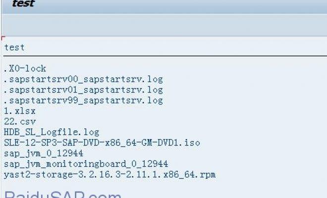 [函数]查询sap服务器文件夹下所有文件-EPS2_GET_DIRECTORY_LISTING