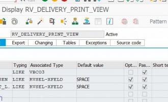 [函数]如何取得发货单(DN)的打印信息-RV_DELIVERY_PRINT_VIEW