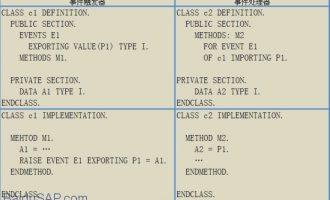 ABAP面向对象(Object Orientation)编程8-类的事件(event)