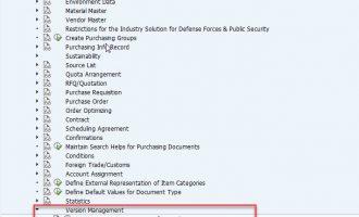 如何实现 SAP 采购订单版本管理